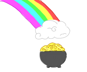 gold a the end of the rainbow