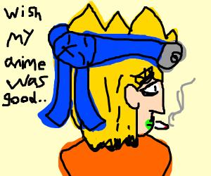naruto with a cigarette