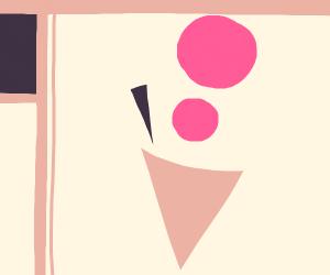 Modern art ice cream cone
