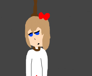 Sayori hanging from a noose (DDLC)