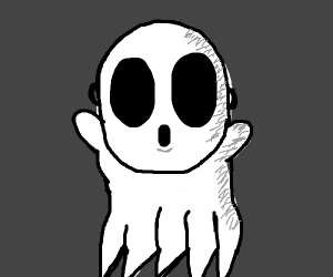 ghost with Shy Guy face