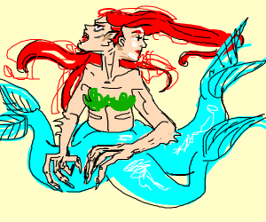 a mermaid...but not as we know them...MONSTER