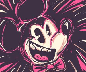 Mickey Mouse psycho portrait