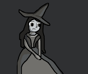 A disappointed witch