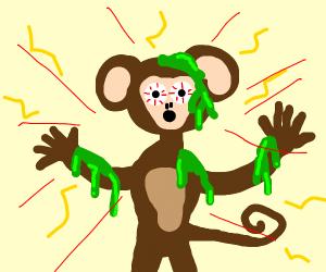 Unfortunately radioactive monkey