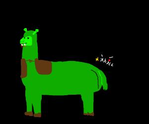 Vampire llama Shrek butt