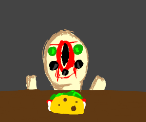 SCP 173 Eating a taco