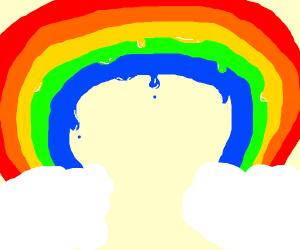 A dripping rainbow