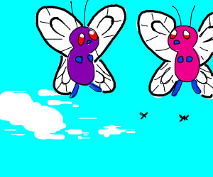 a Pokemon called butterfree