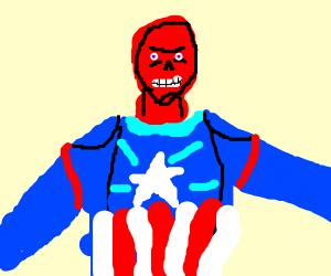 Red skull as captain america