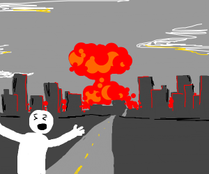 guy running from the end explosion