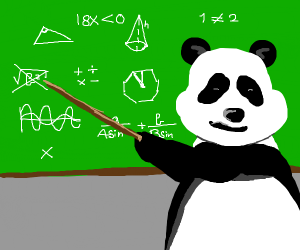 panda teaching math