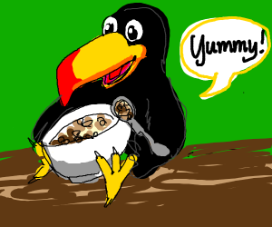 toucan eats cereal