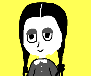 Wednesday Adams smiling