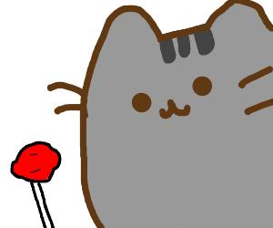 Cat with a Lollipop