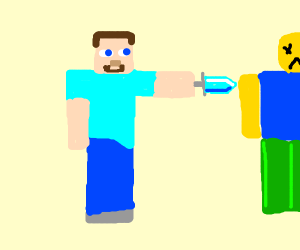steve kills roblox guy