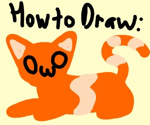 Cat drawing tutorial: OwO edition