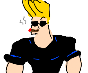johnny bravo smokes a cigar
