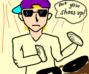 DJ wearing Shoes