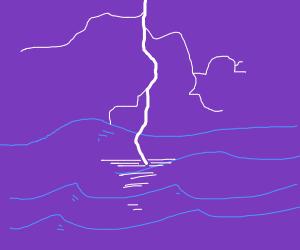 thunder strike ocean