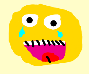 laughing crying emoji with open eyes (meme)