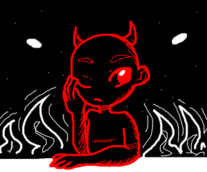 Devil at Hell's Pub, being sad