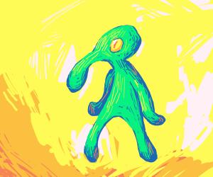 Squidward's newest art piece