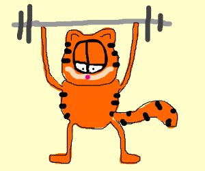 Garfield's been working out.