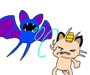 Zubat uses Screech on Meowth
