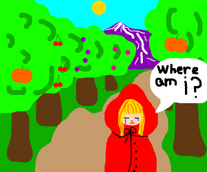 Little Red Riding Hood Gets Lost In The Woods