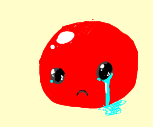 Sad shiny red blob