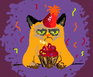 Kitty with Birthday Candles