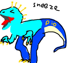 Dinosaur Sneezing