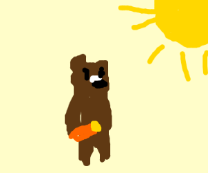 teddy with sunscreen or something