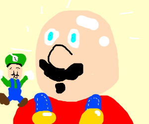 mario exposed to be bald