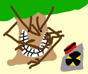 A tree has nuclear power (MWAHAHAHAHA)