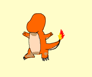 Charmander without face
