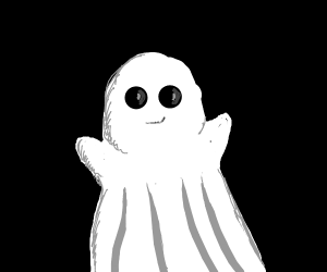 That ghost is so cute!