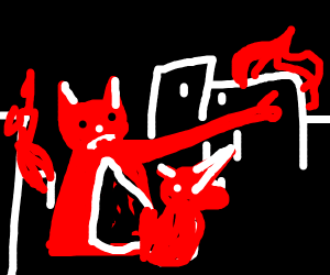 Massive Gremlin destroysCityWithUnicornArmy