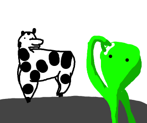 aliens see that cows have no upper body