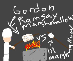 Marshmallow gordon ramsay v little marshmallo