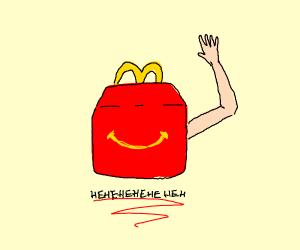McDonald's bag had an arm?