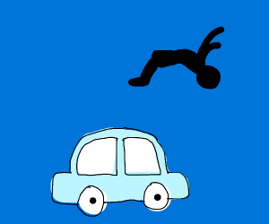 Back flip over car