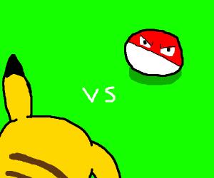 Pikachu vs voltorb