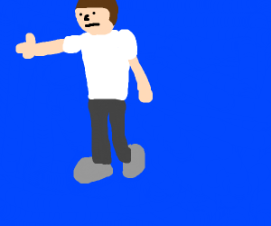 Man in a blue world