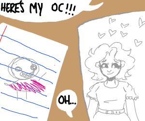 Girls comparing their OCs