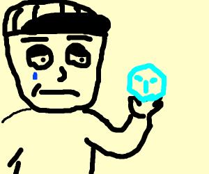sad boi with ice cube