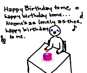 Alone on your birthday