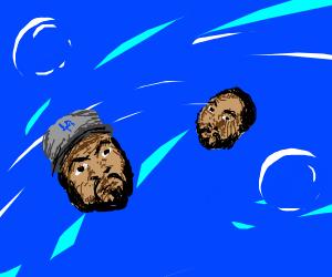 Icecubes underwater