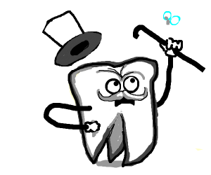 Tooth wearing a Hat